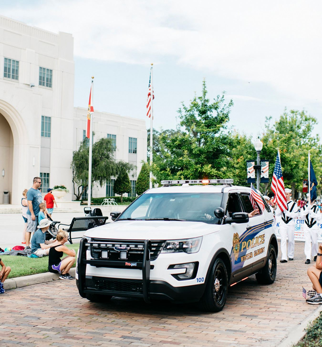 Police Vehicle in a Parade