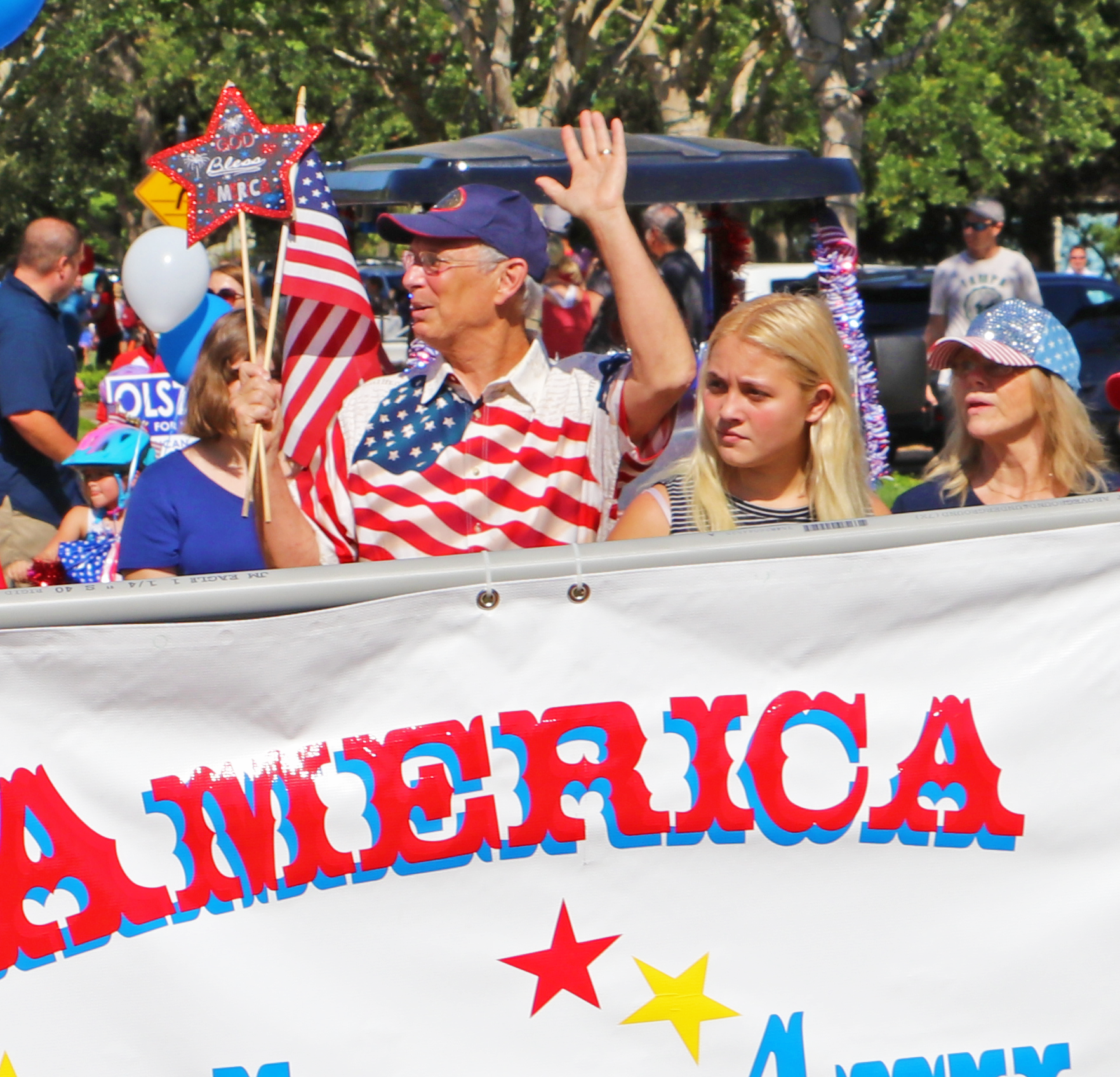 Banner for All American Kids Parade