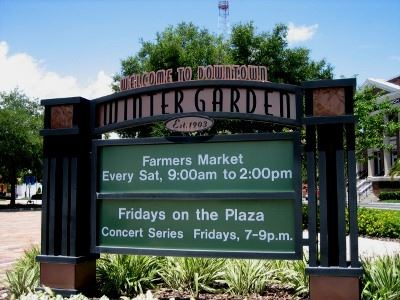 Winter Garden Farmers Market Sign