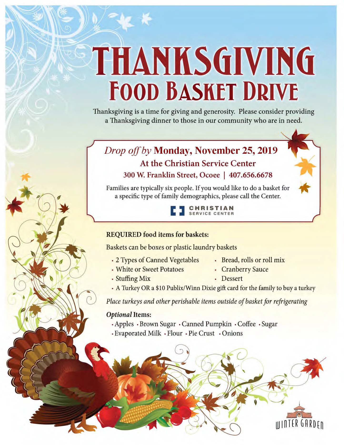 Thanksgiving Flyer 2019 (P)